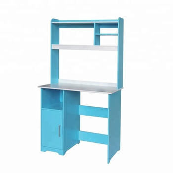 Wooden Kids Desk Study Table With Shelf