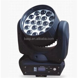 dj equipment prices 19X12W RGBW (4in1) LED Zoom/Beam Moving Head Washer Stage Lights