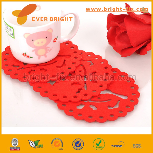 China factory 100% polyester felt , Difference color Promotion gifts non woven felt cup coaster/cup mat/cup pads