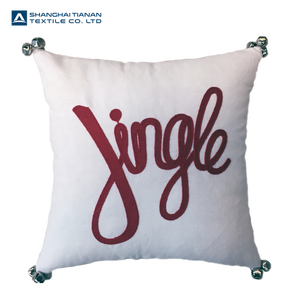 2018 New Design JINGLE Crewel Stitch Wholesale Cushion Christmas Pillow