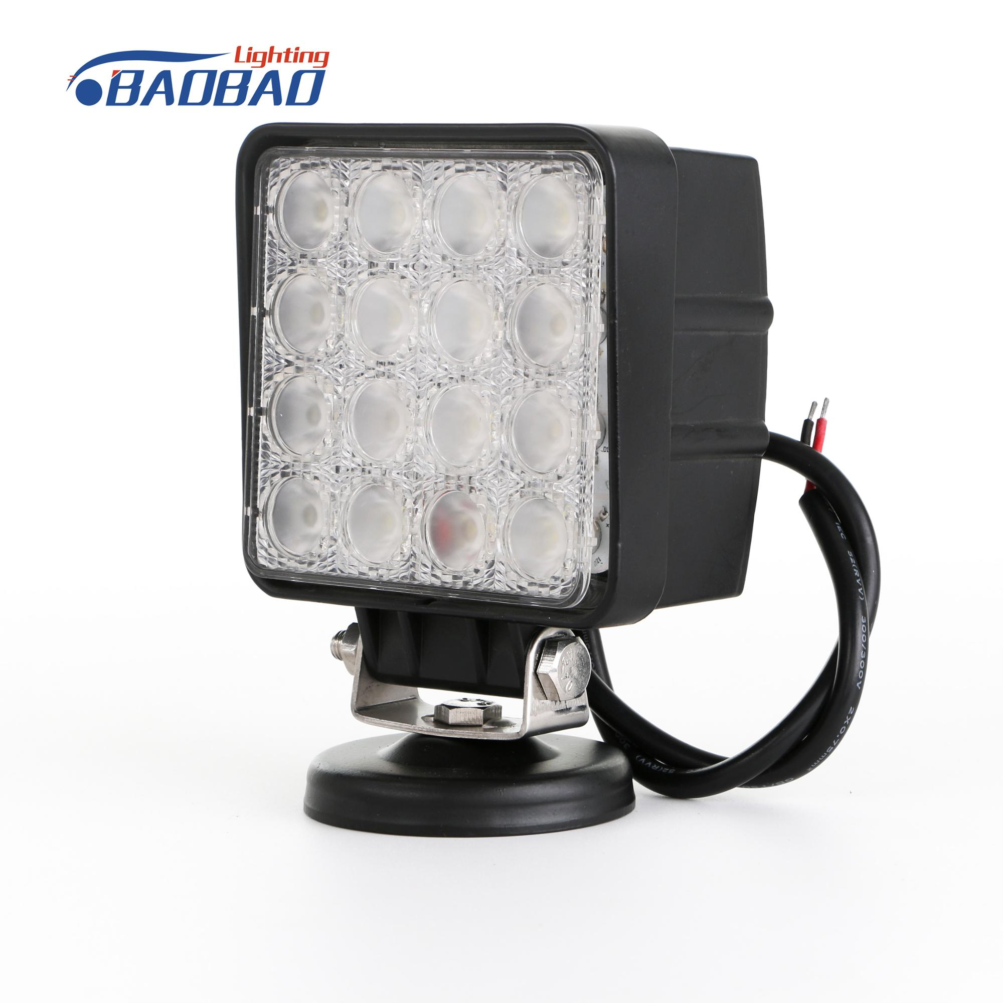 High Power Portable Led Work Lamp Truck Trailer Offroad ATV 48W Car LED Work Light