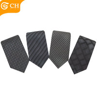 Custom Newest Corbata Polyester Yarn-dyed Black 8CM Mens Ties For Business