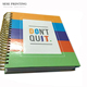Gold coil spiral notebooks with logo custom printing