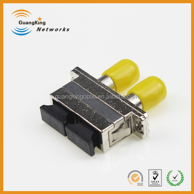 high quality optical fiber connecting adapter hybrid SC-ST MM duplex