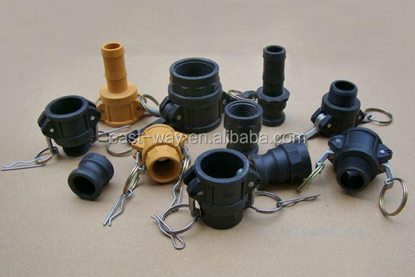 "1/2"" to 6inch PP/nylon plastic camlock coupling"