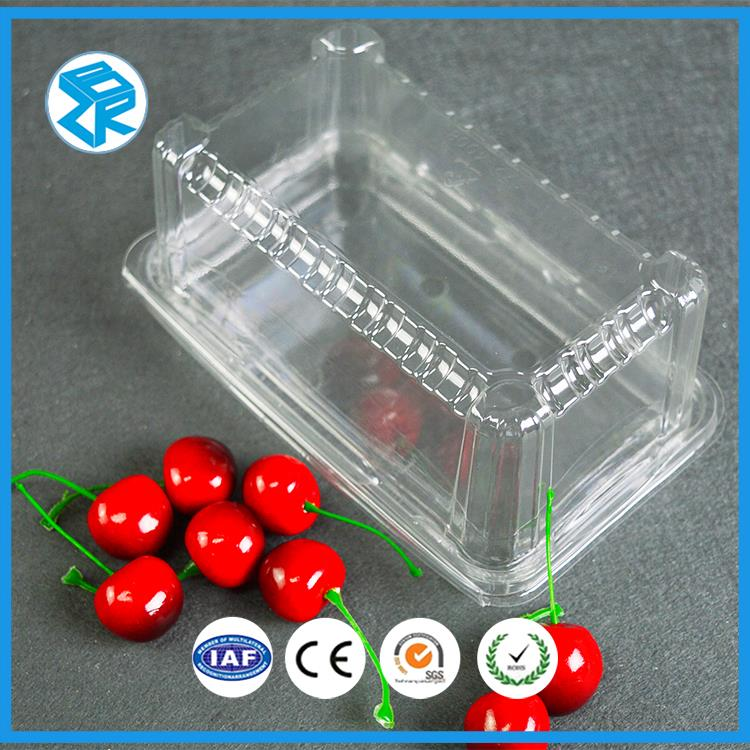 2016 high quality China pet clear plastic custom blister clamshell package fruit box