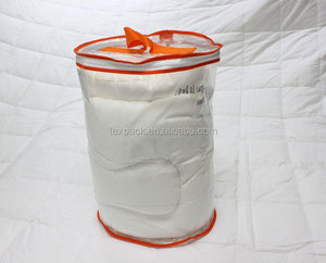 clear pvc pe plastic round zipper bag for bedding packaging wholesale