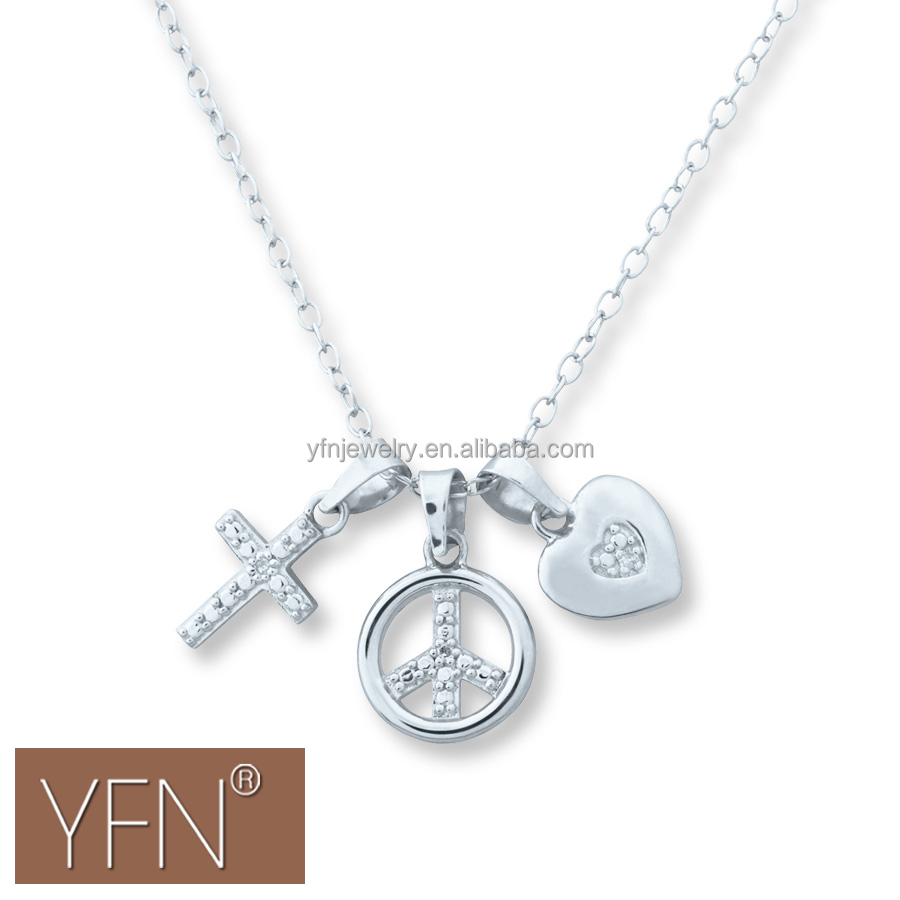 Unusual meaning sterling silver jewellery cross peace sign unusual meaning sterling silver jewellery cross peace sign heart pendant charm necklace for slide aloadofball Choice Image