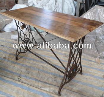 Charmant Sewing Machine Cast Iron Leg Table