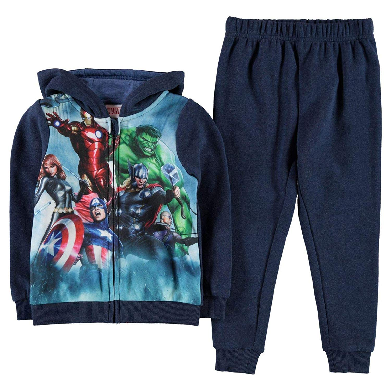 a62dd6881 Get Quotations · Character Tracksuit 2 Piece Set Infant Junior Boys Hoody  Pants Jogger Suit