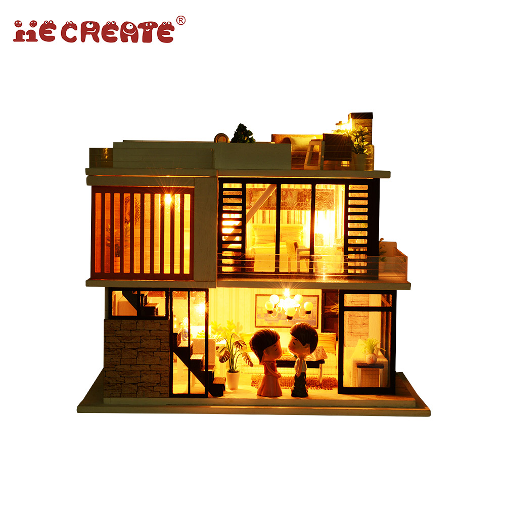 Toys & Hobbies Model Building 2018 Hot Diy Miniature Model Funitures Building Kits Kids Or Adults Gifts 3d Assemble Toys Christmas Creative Wooden Dollhouse Vivid And Great In Style