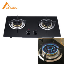 Multifunctional kitchen glass Built-in 2 Burner Gas cooker stove