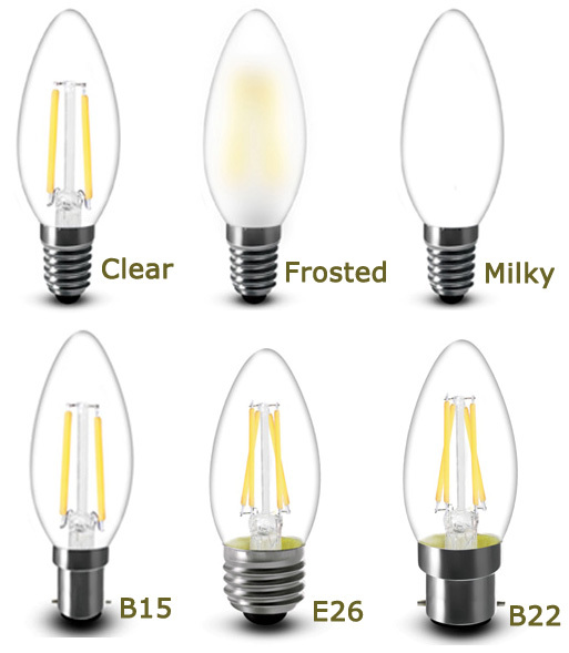 230v 4w Dimmable Led Filament Candle B15d Led Bulb