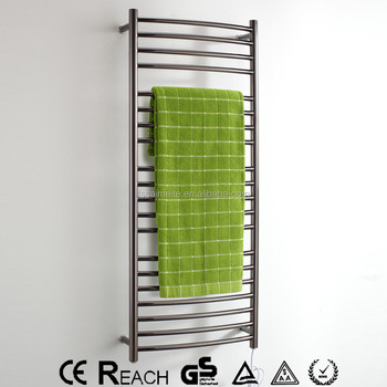 Sus304 Black Ladder Badkamer Elektrische Verwarmd Handdoekenrek ...