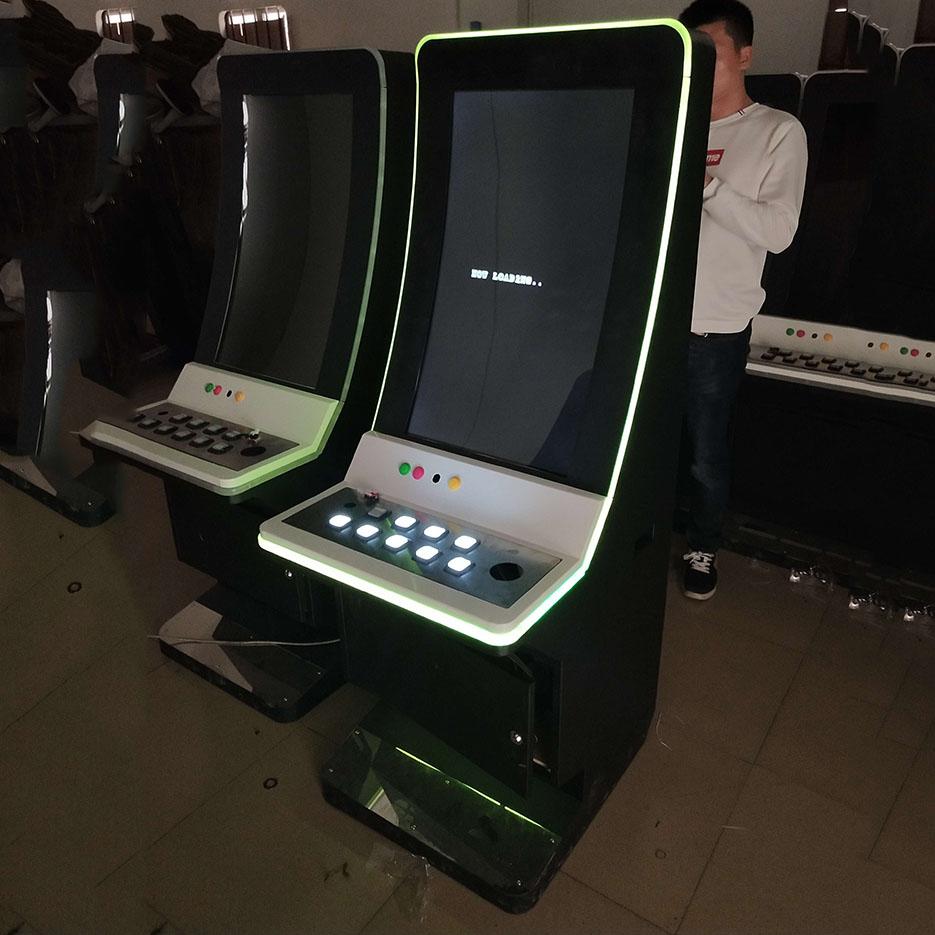 2019 Nieuwe video games 88 Fortuinen Gebogen Lcd-scherm Slot Game Machine