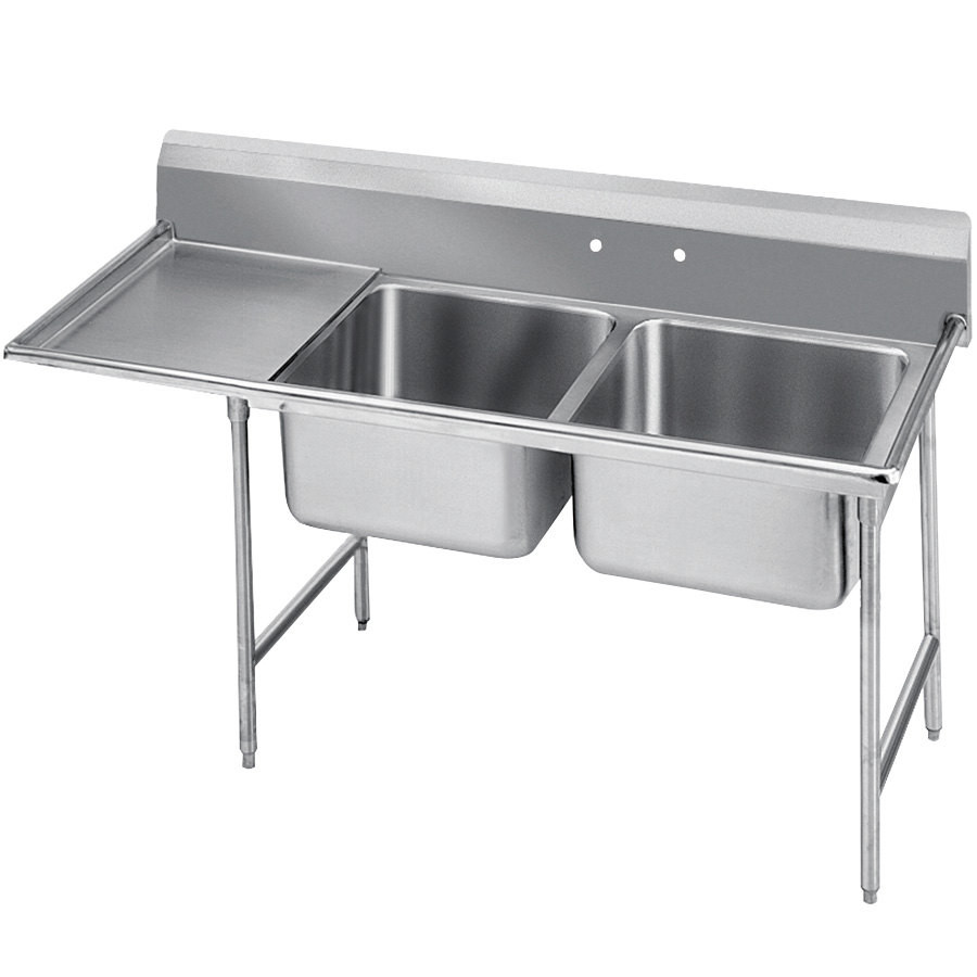 Factory Price Folding Stainless Steel Kitchen Sink With 2 Bowls And ...