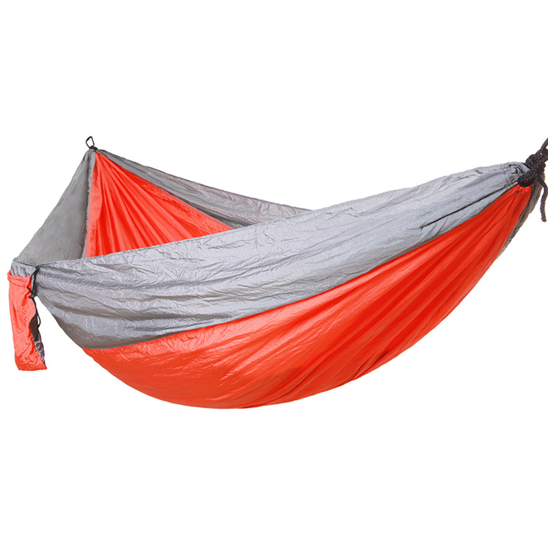China supply Portable Outdoor Travelling Camping Parachute Nylon Hammock with Straps