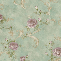 American Style beautiful rose flower bed room wallpaper