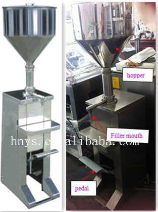 Pedal manual bottled jam filling machine