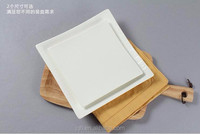 High quality white square dining plate set