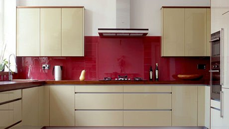 rote farbe glas wandpaneele k che geb udeglas produkt id. Black Bedroom Furniture Sets. Home Design Ideas