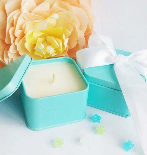 Modest Luxury Top Quality Soy Wax Scented Home Fragrances Tin Candle
