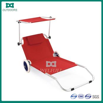 leichte falten sonnenliege stuhl mit rad und sonnenschutz buy product on. Black Bedroom Furniture Sets. Home Design Ideas