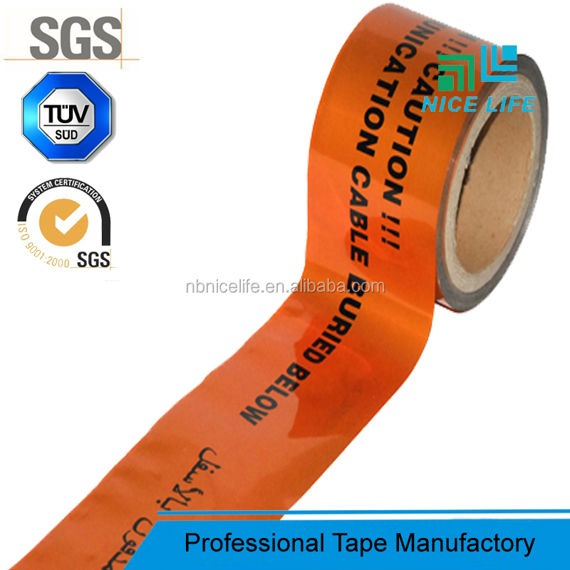 Orange Barricade Caution Tape Underground Detectable Barrier Tape