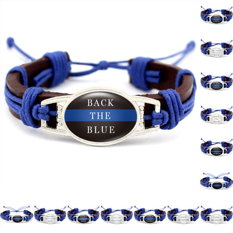 Apparel Sewing & Fabric Blue Police Lives Matter Thin Blue Line Paracord Bracelet Usa America Flag Support Lives Police Matter Survival Bangle Bracelet Street Price Home & Garden