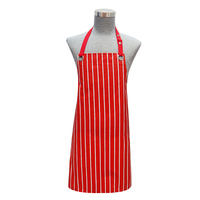 Adjustable bib canvas cotton kitchen chef apron with pocket