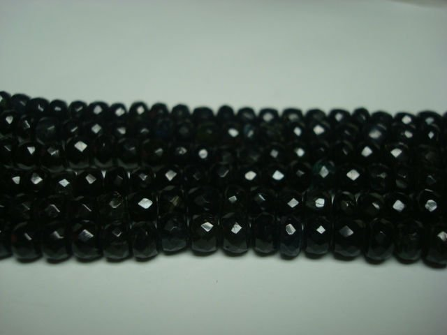 Black Tourmaline faceted Beads