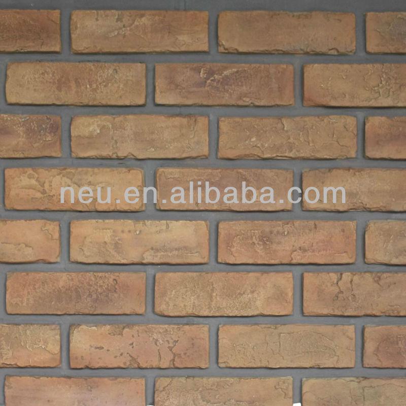 B ton briques panneau mural brique de parement chemin e brique d coratif b - Panneau brique decorative ...