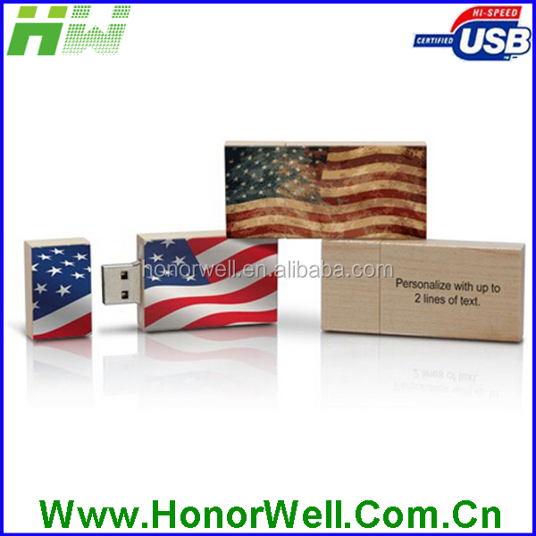 Wholesale wooden usb pen drive customized logo for gift or use