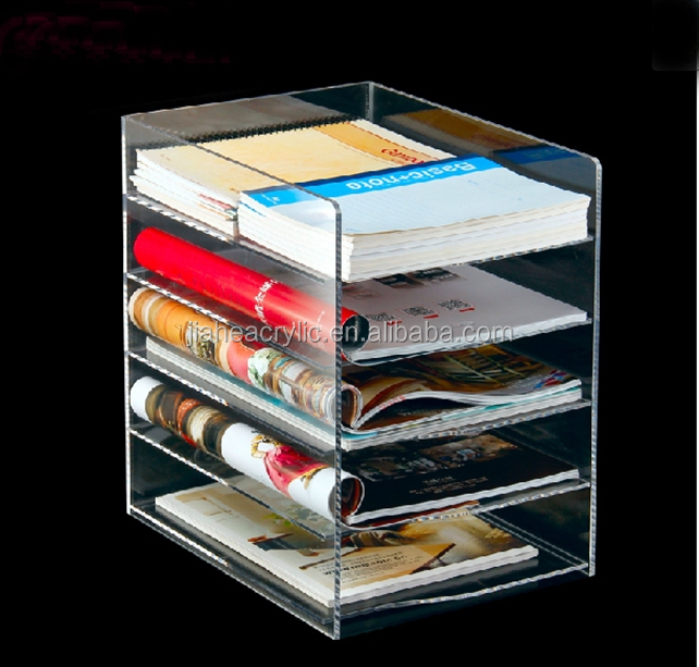 5 floor acrylic document storage box /a4 size plastic document box