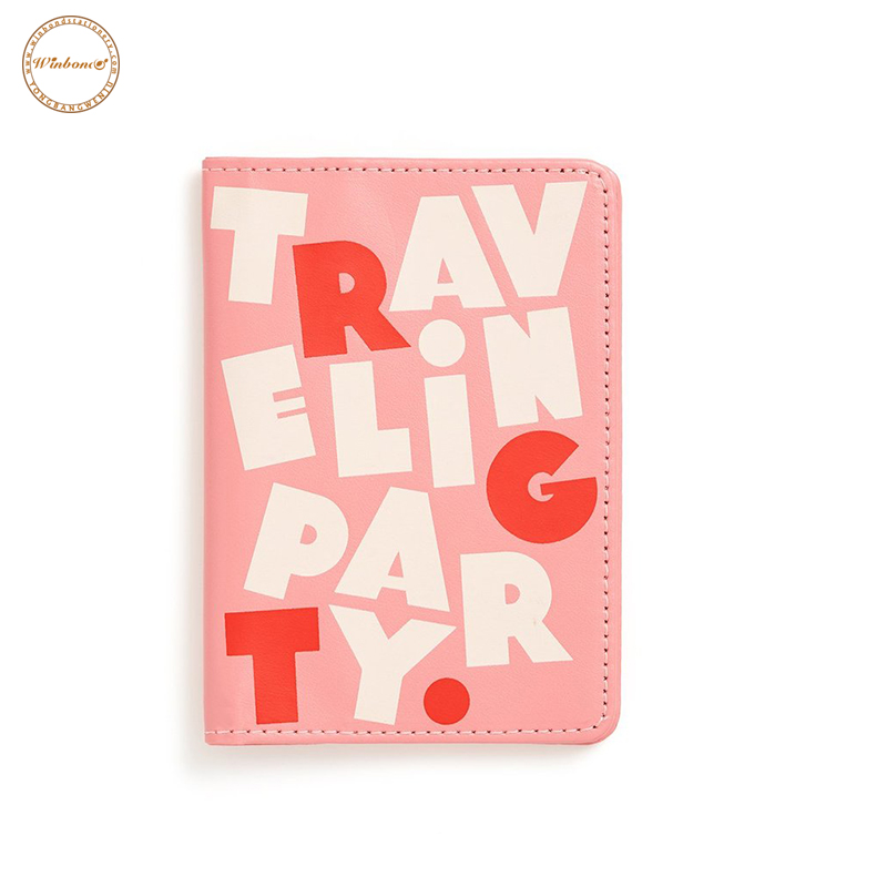 Solid color letter printing multiple real leather rfid blocking passport holder