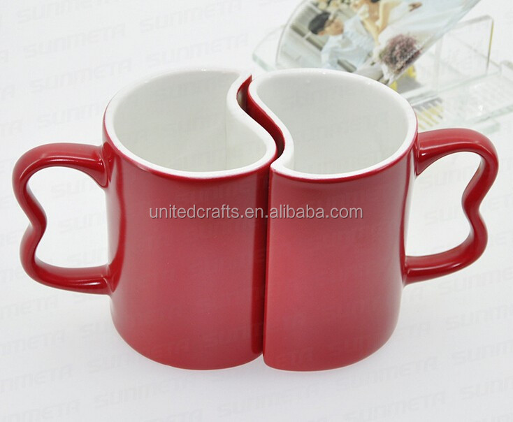 valentine's day couple Sublimation Coated Magic Color Changing Mug cup