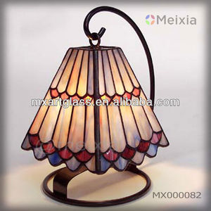 MX000082 china wholesale tiffany style stained glass mini desk lamp for home decoration item
