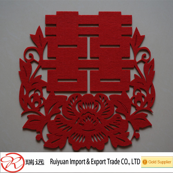 Chinese style classical Double happiness Felt crafts for wedding gift