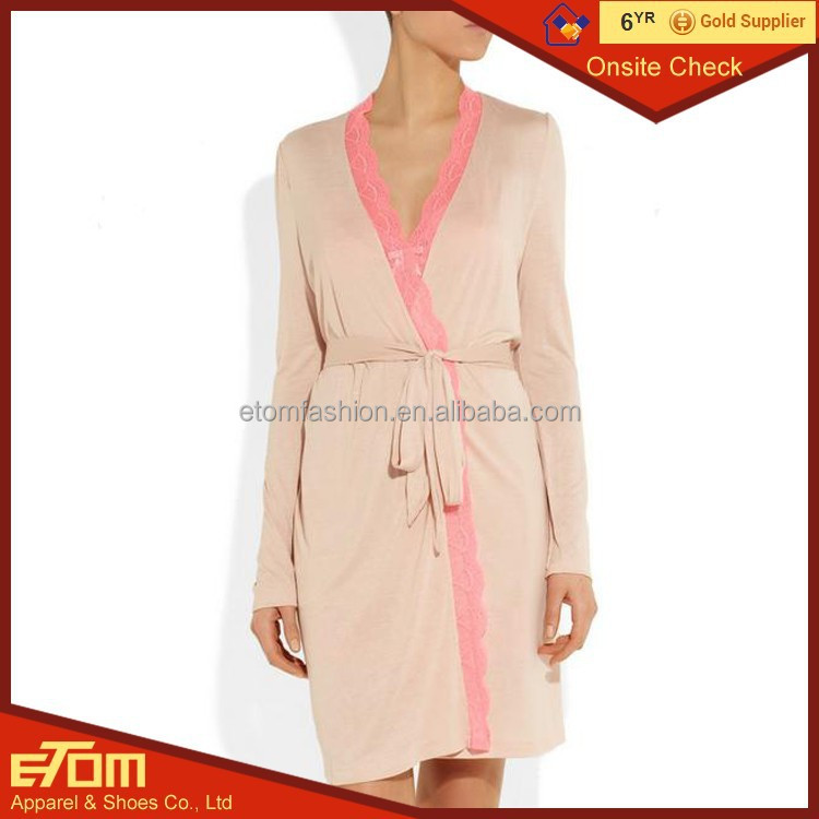 China Factory Wholesales Price Silk lace robes delicates robe