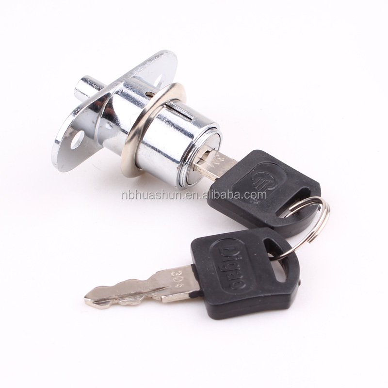 High security brass cylinder and zinc alloy housing push locks for furniture lock