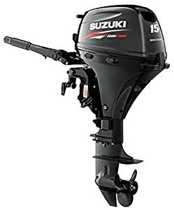 "Suzuki 15 HP 4-Stroke EFI Outboard Motor Tiller 20"" Shaft Electric Start"
