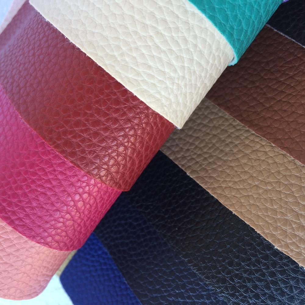 Cuero de imitación de cuero PVC Vinilo Tela De Tapicería Material-Café Expreso