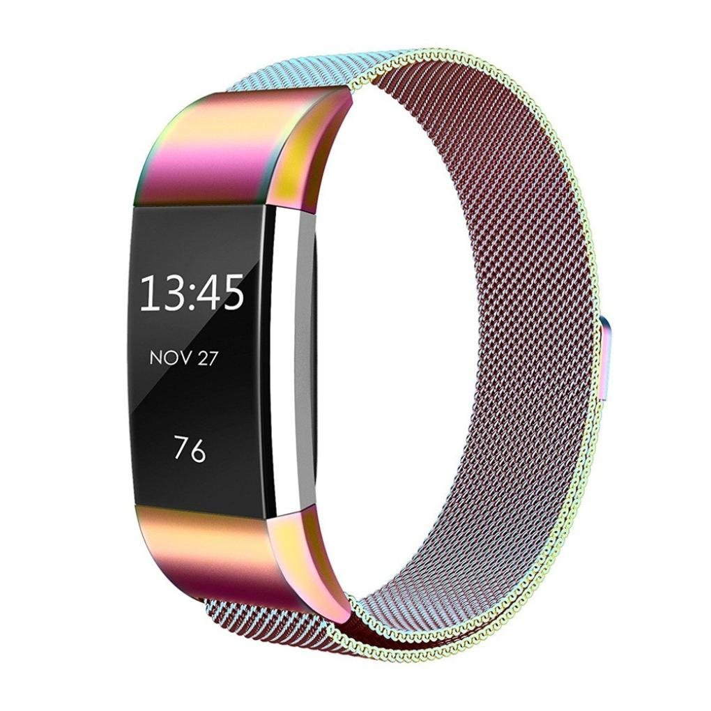 Joint For Fitbit Charge 2 Bands, Fashion New Colorful Milanese Stainless Steel Watch Band Strap Bracelet For Fitbit Charge 2 Smartwatch Fitness Wristband