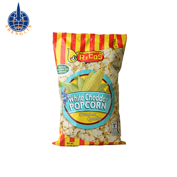 Custom printed popcorn plastic packaging bag snack packaging pouches
