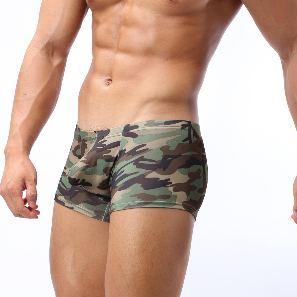 Cooperative Mens Camouflage Boxer Underwear Men Sexy Zipper Open Pouch Bag Boxers Gay Underwear Man Stage Clothing Shorts Trunks Back To Search Resultsunderwear & Sleepwears
