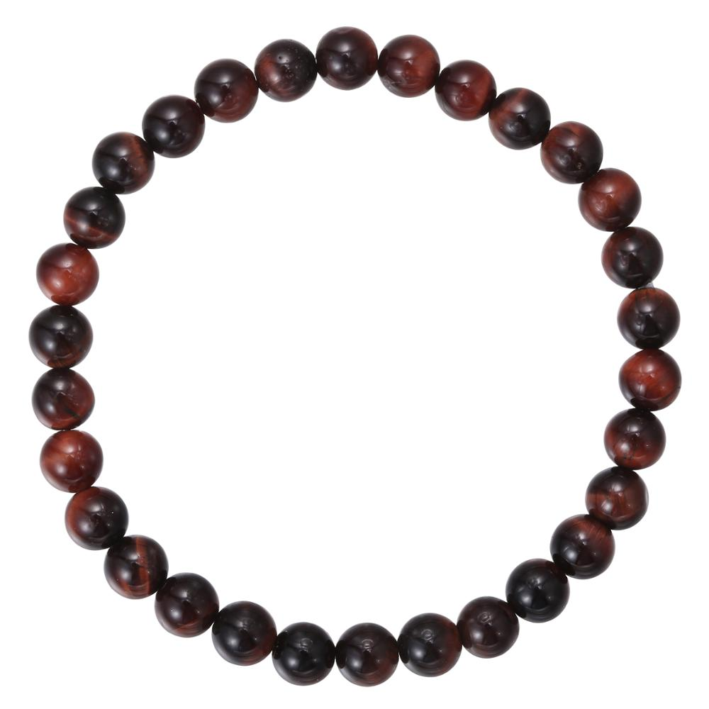 TOP Qualität 6mm Stretch-Armband Red Tiger Eye