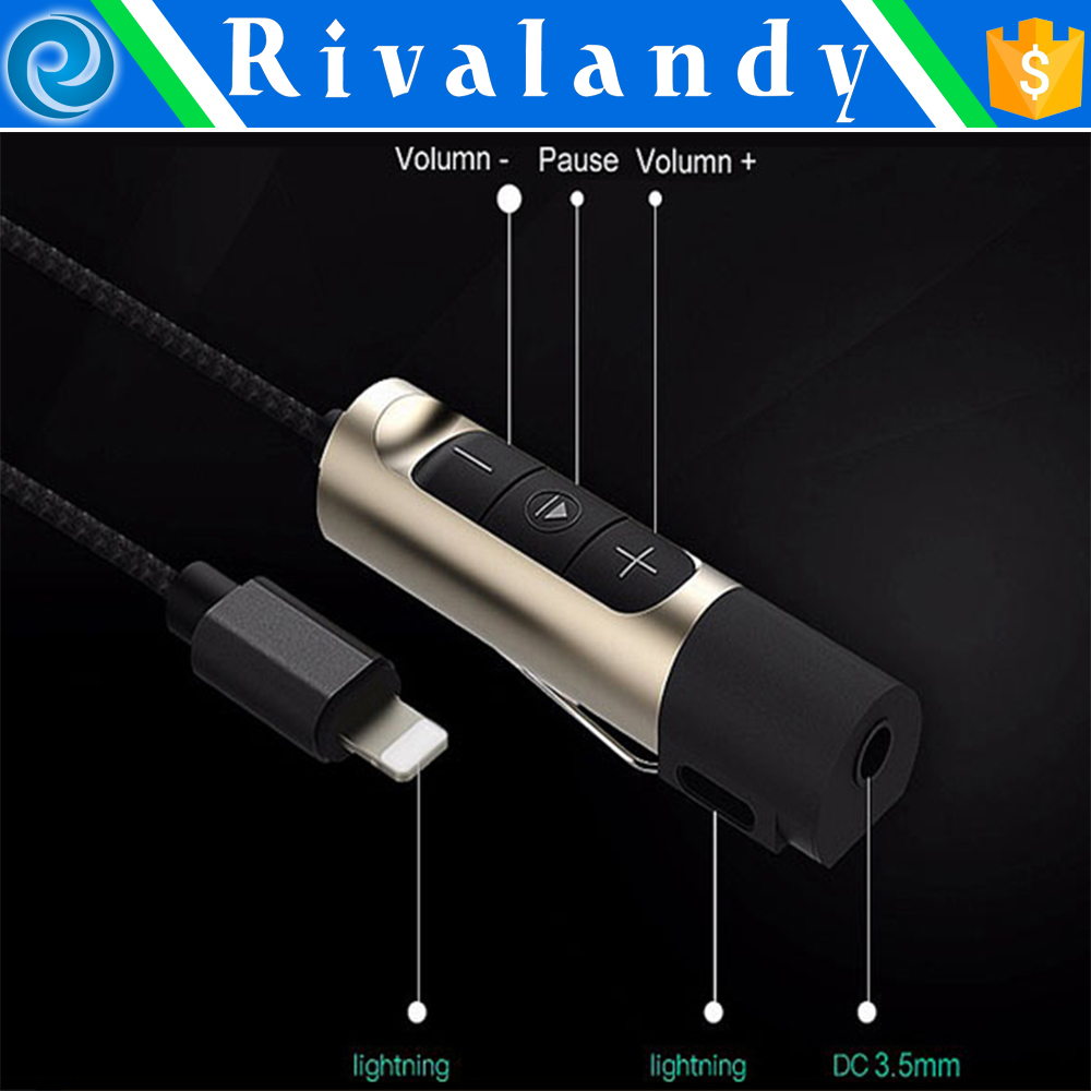 new arrival 3.5mm to usb converter cable for iphone 7 headphone adapter