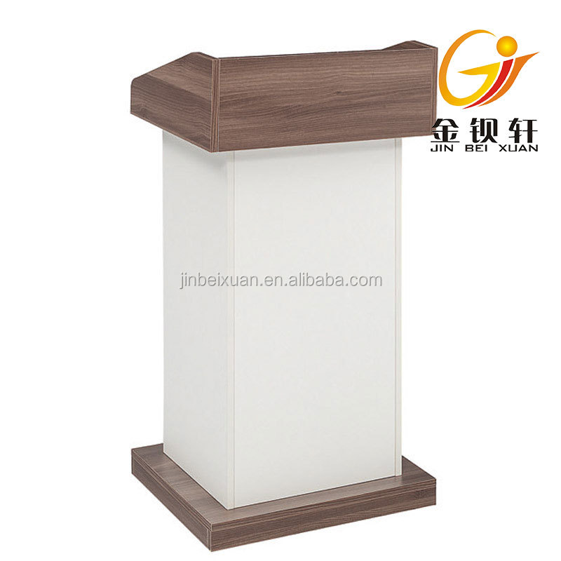 Design Wooden Rostrum Desk Podium Table Church Furniture Lectern 26K0601