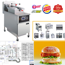 2017 Commercial Industrial Fast Food Chicken Electric Gas Pressure Deep Fryer