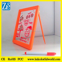 kids led fluorescent board with marker pen /children M2 drawing board